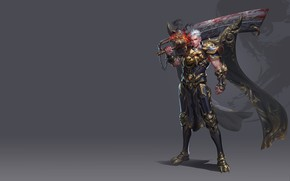 Картинка оружие, меч, воин, арт, уровень, дизайн костюма, Yang chen, Work charts two years ago, фэнтези …