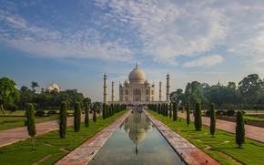 Картинка Индия, Тадж-Махал, мавзолей, Агра