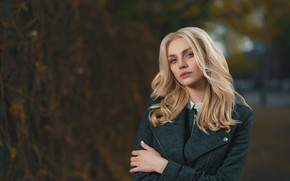 Картинка девушка, модель, блондинка, боке, Анастасия, Dmitry Medved