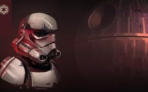 Картинка Рисунок, Star Wars, Шлем, Арт, Штурмовик, Stormtrooper, Звезда смерти, Imperial Stormtrooper, by Luke Viljoen, Luke …