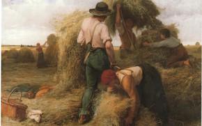 Картинка сено, фермеры, DUPRE, труженики