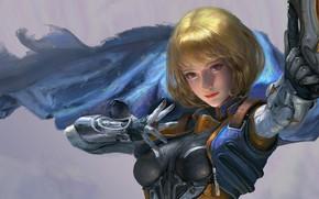 Картинка девушка, аниме, воин, арт, partner, Xiaoting Li