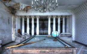 Картинка стол, бильярд, глобус