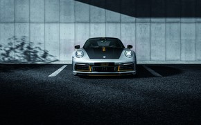 Картинка 911, Porsche, вид спереди, Carrera, TechArt, 992, 2019