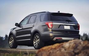 Картинка камень, Ford, обочина, SUV, Explorer, 2016