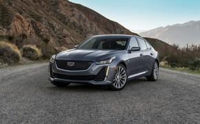 Картинка горы, серый, Cadillac, седан, четырёхдверный, 2020, CT5