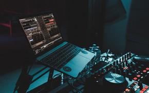 Картинка компьютер, музыка, микс, Hi-Tech, редактор