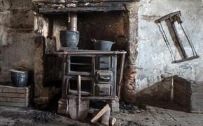 Картинка дом, комната, печка