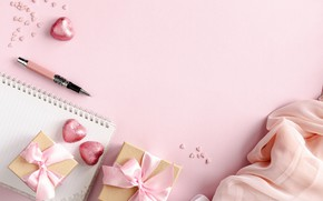Картинка конфеты, ручка, подарки, блокнот