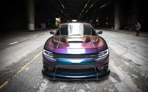 Картинка Dodge, SRT8, Front, Charger, Chameleon, Sight