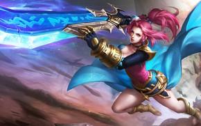 Картинка девушка, оружие, меч, King of Glory, Король славы