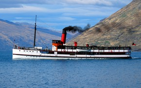 Картинка ретро, Канада, пароход, пргулка