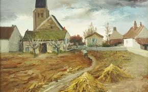 Картинка картина, городской пейзаж, Марсель Диф, Marcel Dyf, Буа-д'Арси
