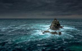 Картинка rock, storm, sea, tide