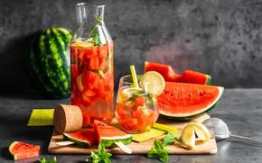 Картинка арбуз, напиток, fresh, drink, watermelon