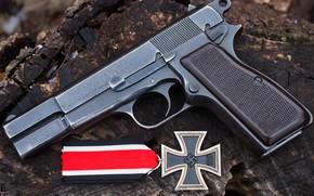 Картинка пистолет, оружие, Железный крест
