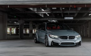 Картинка BMW, Vossen, Silver, F80, Sight