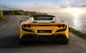 Картинка вода, фонари, Ferrari, спорткар, Spider, Ferrari F8