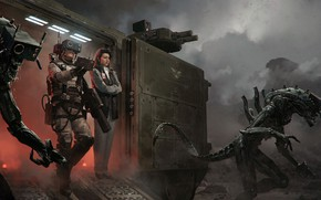 Картинка чужие, aliens, Marek Okon, Under Control, под контролем