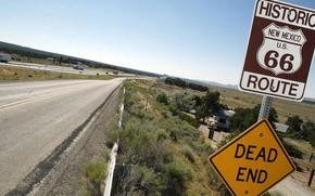 Картинка ужас, Америка, Нью Мексико, дорога 66, смертельное шоссе