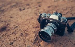 Картинка фотоаппарат, объектив, FUJIFILM, X-T3