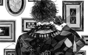 Картинка спина, куртка, картины, перчатки, парень