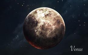 Картинка Звезды, Планета, Космос, Венера, Арт, Stars, Space, Art, Planet, Universe, Galaxy, Система, Venus, Science Fiction, …