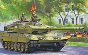 Картинка Испания, основной боевой танк, Леопард 2, MBT, Leopard 2E