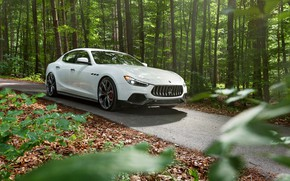 Картинка Maserati, вид спереди, 2018, Ghibli, Novitec, GranSport