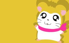 Картинка хомяк, мышь, жёлтый фон
