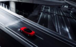Картинка Красный, Авто, Игра, Машина, Стиль, Red, Honda, Car, Night, Спорткар, Sportcar, Honda NSX, Gran Turismo …