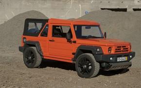 Картинка песок, оранжевый, внедорожник, 2011, 4x4, Travec, Tecdrah Integrale 1.5 TTi, Renault/Dacia Duster, рамный