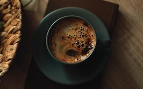 Картинка настроение, кофе, кружка, книга, напиток