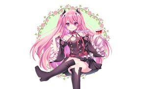 Картинка девушка, цветы, сидит, Owari no Seraph, Последний серафим, вапир, Крул
