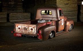 Картинка Ford, Truck, Low, Rusty