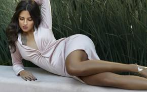 Картинка девушка, секси, поза, фото, модель, платье, ножки, красивая, Javier Ullastres