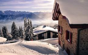 Картинка Winter, Snow, Houses