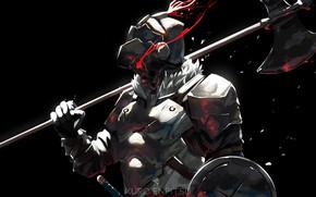 Картинка доспехи, шлем, рыцарь, Goblin Slayer