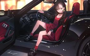 Картинка Девушка, Автомобиль, Покемон, Pokemon, Marnie