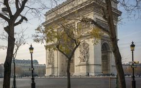 Картинка Франция, Париж, Триумфальная Арка