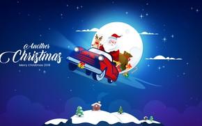 Картинка Зима, Рождество, Christmas, Winter, 2018, Santa, Merry, Claus