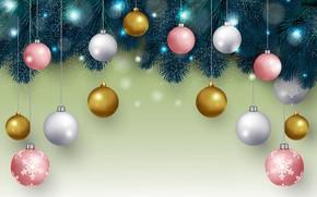 Картинка праздник, шары, Новый год