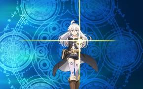 Картинка Девушка, аниме, арт, Магия, Grimoire Of Zero, Книга магии для начинающих с нуля, Zero kara …