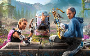 Картинка Far Cry, Ubisoft, Ubisoft Montreal, New Dawn, Far Cry: New Dawn