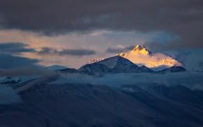 Картинка облака, горы, Тибет