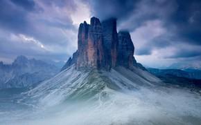 Картинка горы, Италия, Тре-Чиме-ди-Лаваредо, Секстен Доломиты