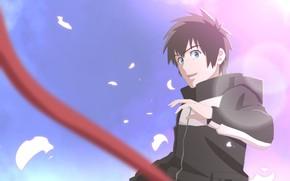 Картинка небо, арт, парень, Kimi no Na wa, Твоё имя