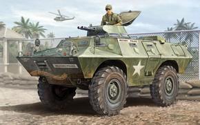Картинка US Army, Бронетранспортер, military police, Vincent Wai, M706, Кадиллак Коммандо, V-100, Cadillac Commando, Commando Armored …
