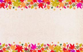 Картинка листья, холст, открытка, шаблон, заготовка