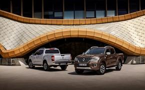 Картинка серый, стоянка, Renault, коричневый, 4x4, 2017, Alaskan, пикапы